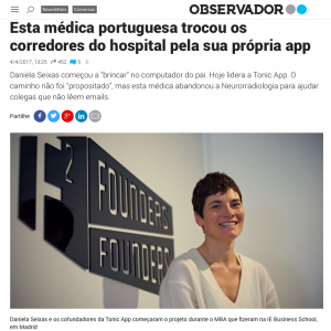 Tonic App on Observador