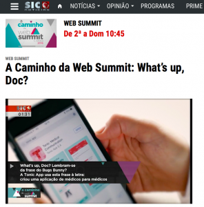 Tonic App on Sic Notícias