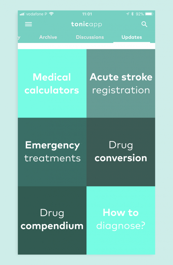 Tonic App medical resources