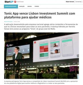 Tonic App on Jornal Economico