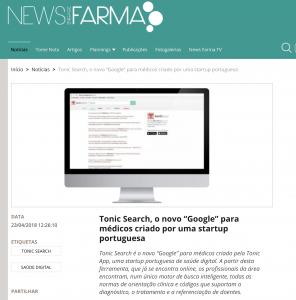 Tonic App on NewsFarma