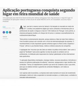 Tonic App at Diário de Notícias