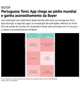 Tonic App in Jornal de Negócios